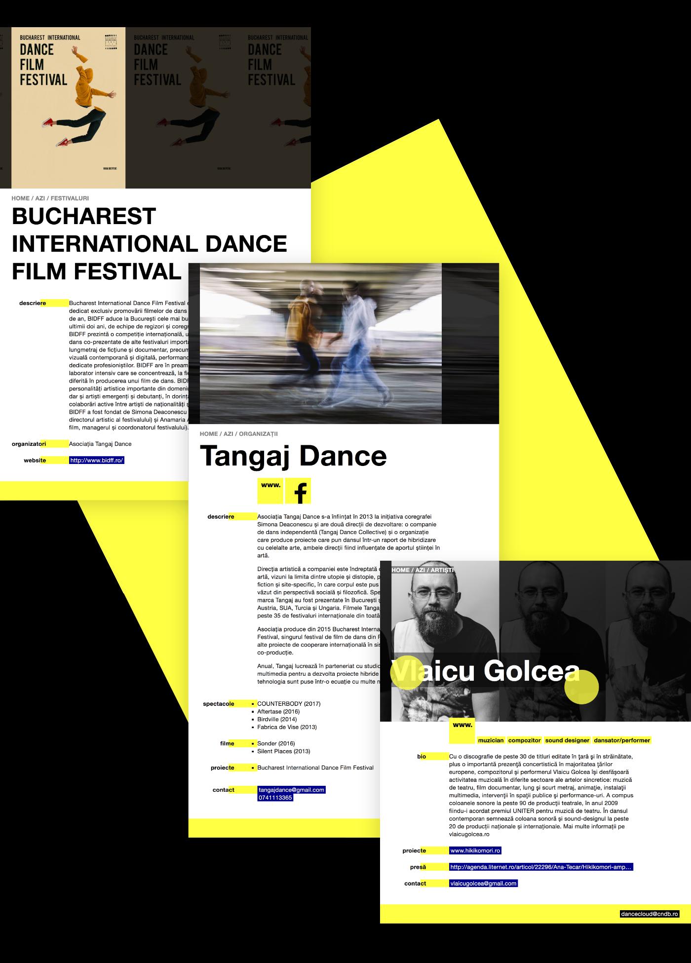 dancer performer artist Webdesign Webdevelopment DANCE   CNDB