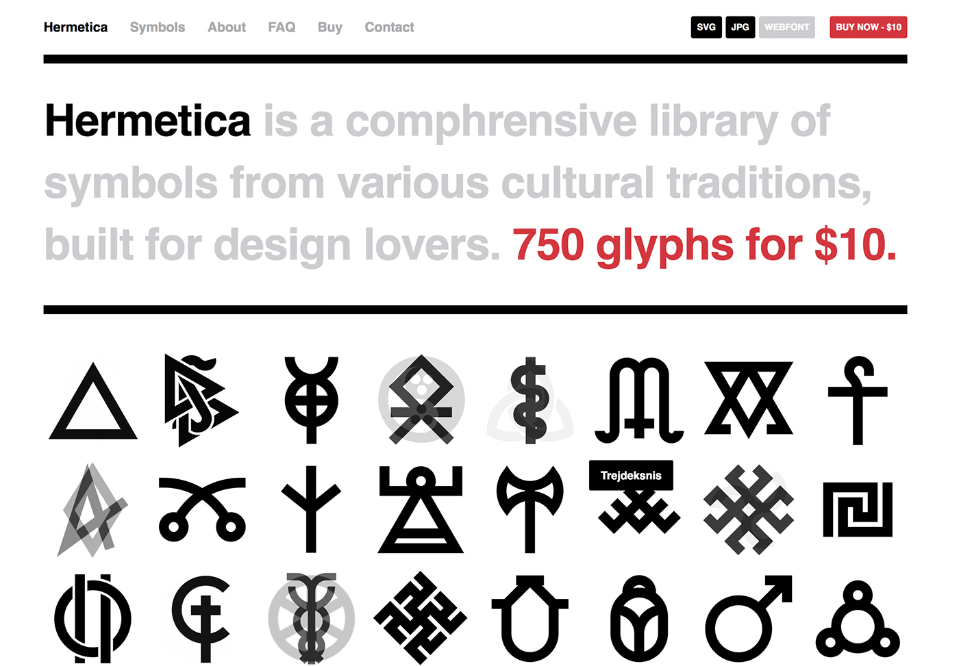 Hermetica A Library Of Symbols For Design Lovers On Behance