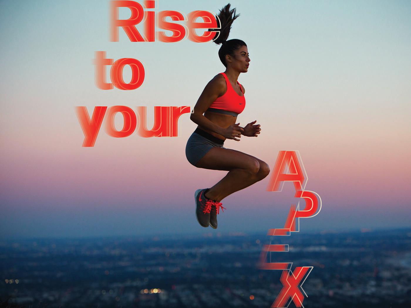 Typographic Identity graphic design  typography   Gym Brand Brand Design Fitness brand Fitness Design