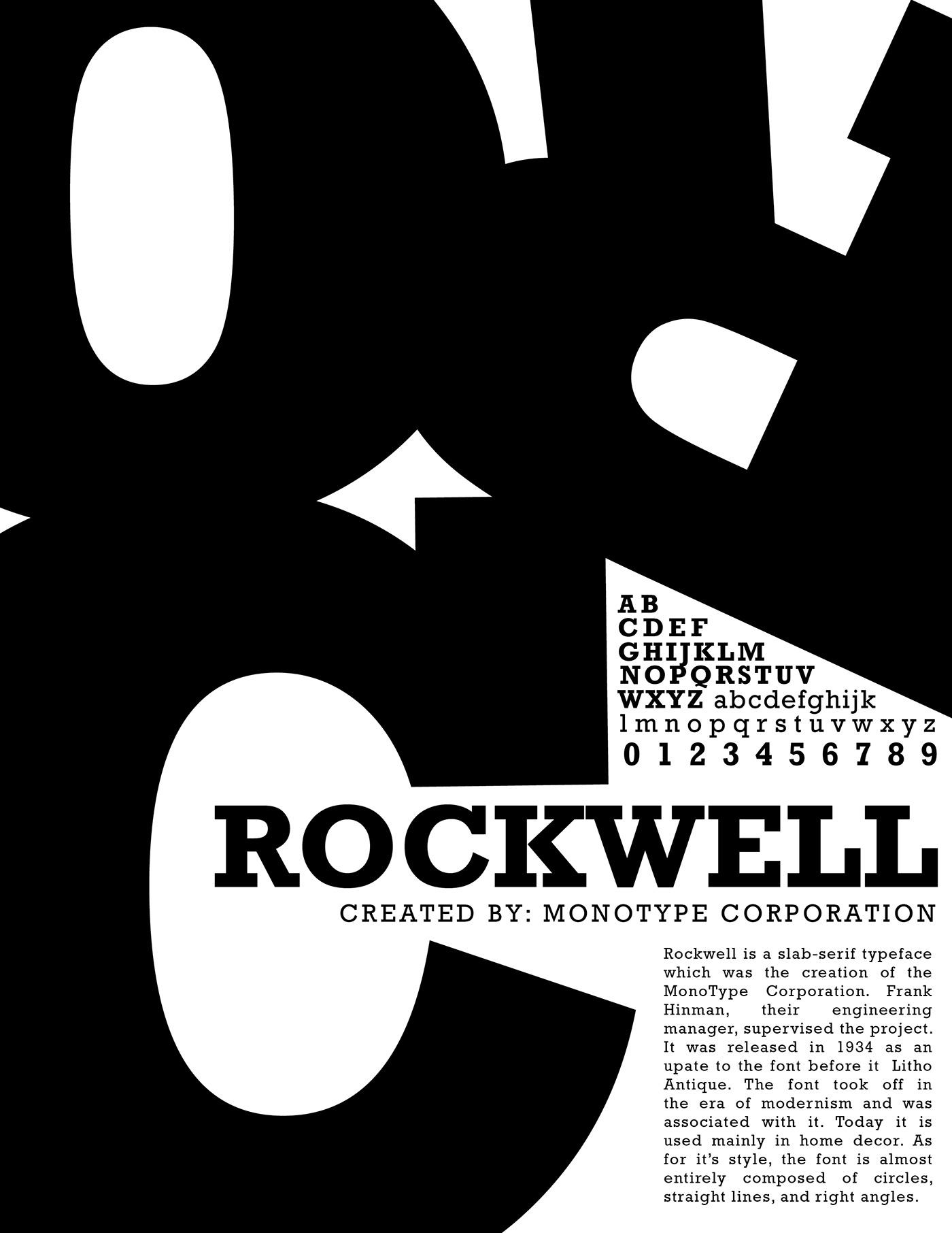 Rockwell Font Poster on Behance