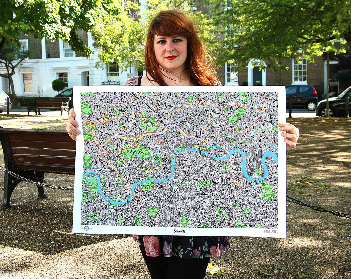 細緻的19套手繪地圖欣賞