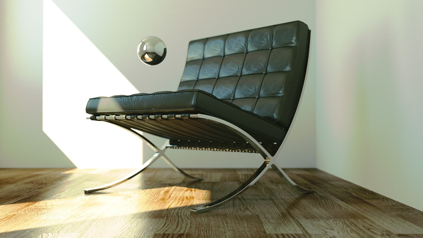 Barcelona Chair In Cycles On Behance