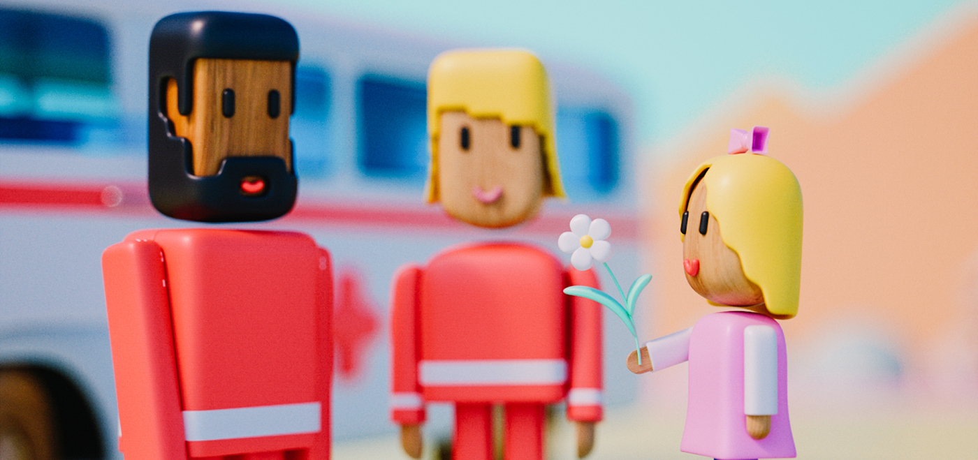 kids hospital bed balloons Colourful  ambulance doctor clouds SKY