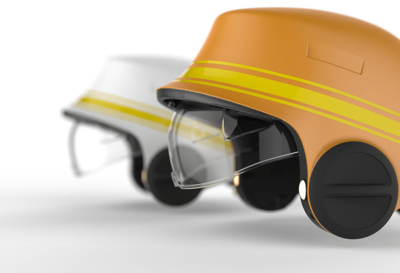 bouygues casque chantier Helmet innovation orange