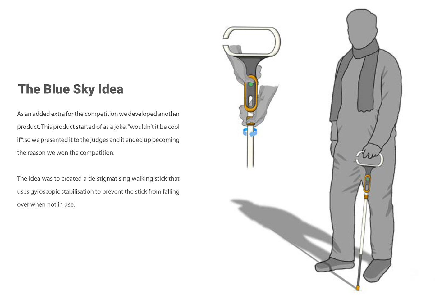 concept design device Maas mobility walking stick