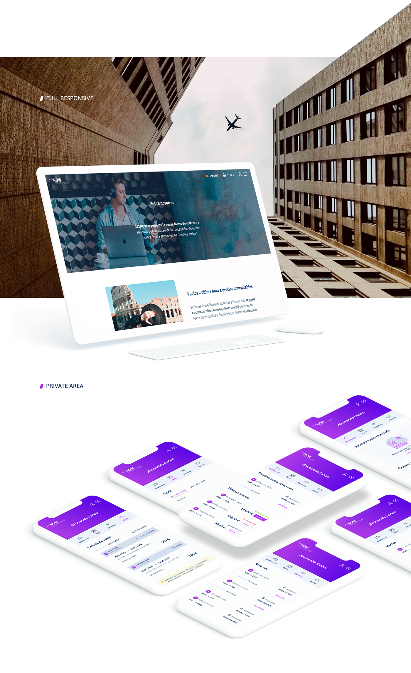 flight,Fly,Travel,Travell app,web app,clean,presentation,purple