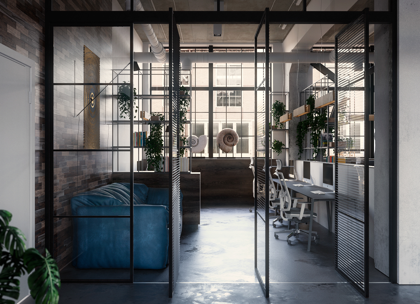 Industrial office on Behance
