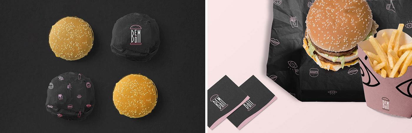 burger restaurant logo branding  Food  icons Packaging