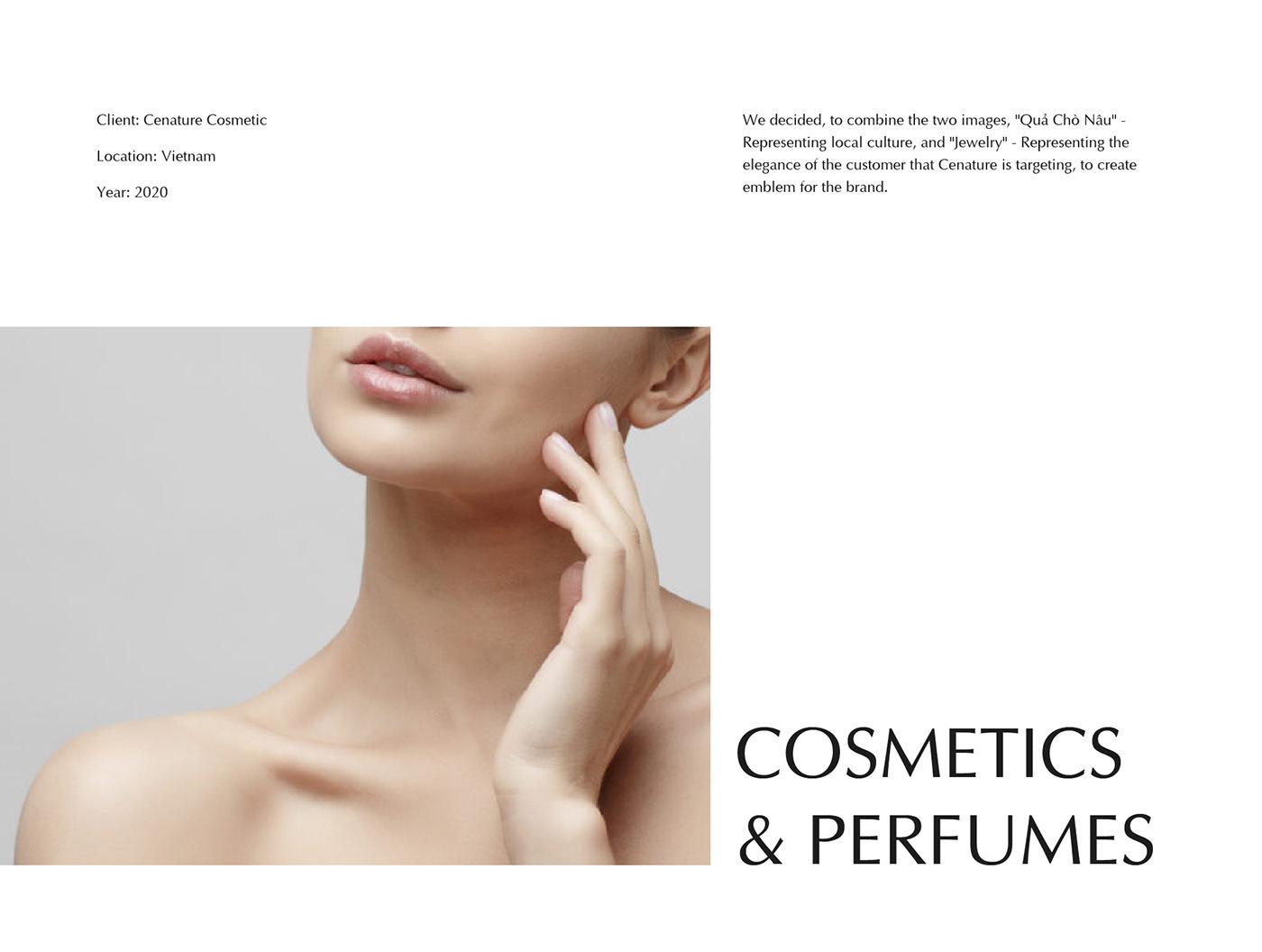 brand identity Cosmetic Brand cosmetic packaging cosmetic visual lettermark logo type saigon vietnam visual identity wordmark