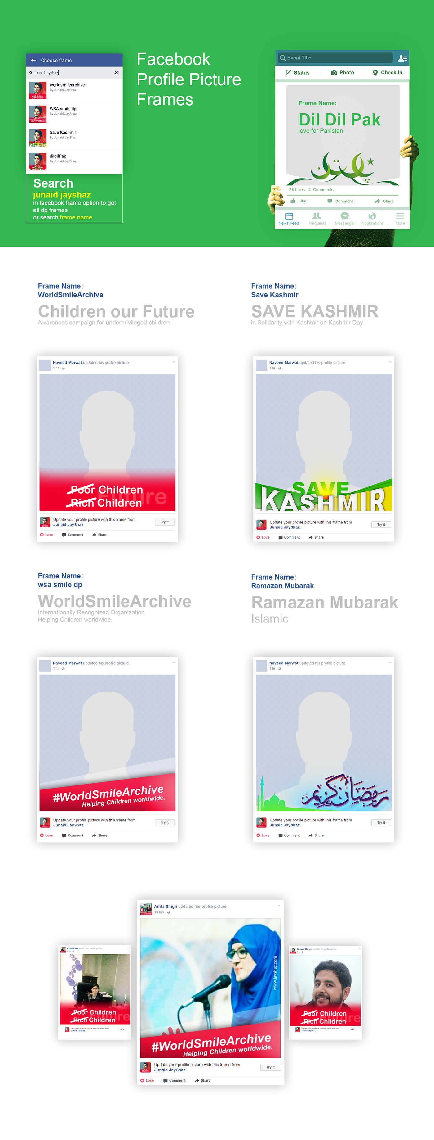 Facebook Profile Picture Frames on Behance