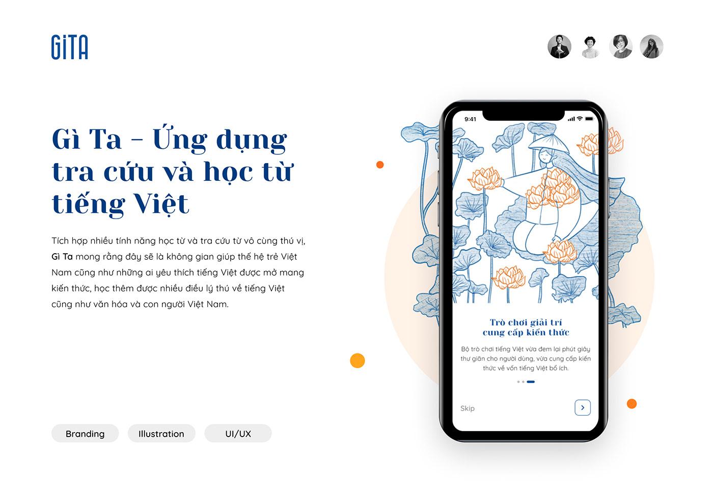 dictionnary graphic design  ILLUSTRATION  interactive design Mobile app ui ux user experience vietnam