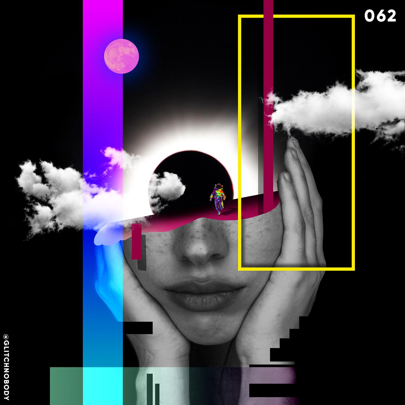 glitchnobody graphic design  poster print