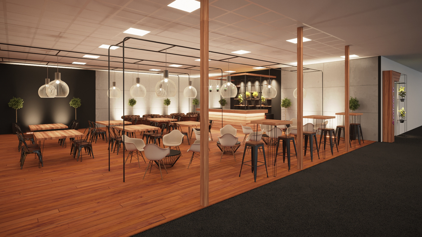 pre-function area Conference design Event Design 3d renderings Event Branding experience design
