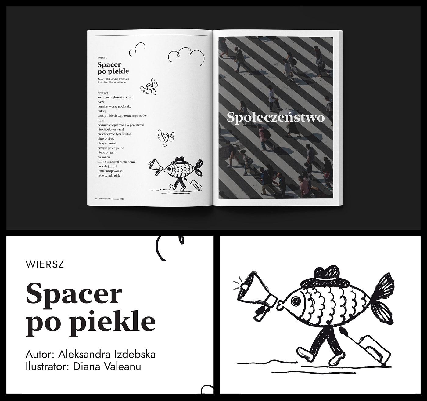 design graphic magazine print branding  logo Minimalism newspaper school Website