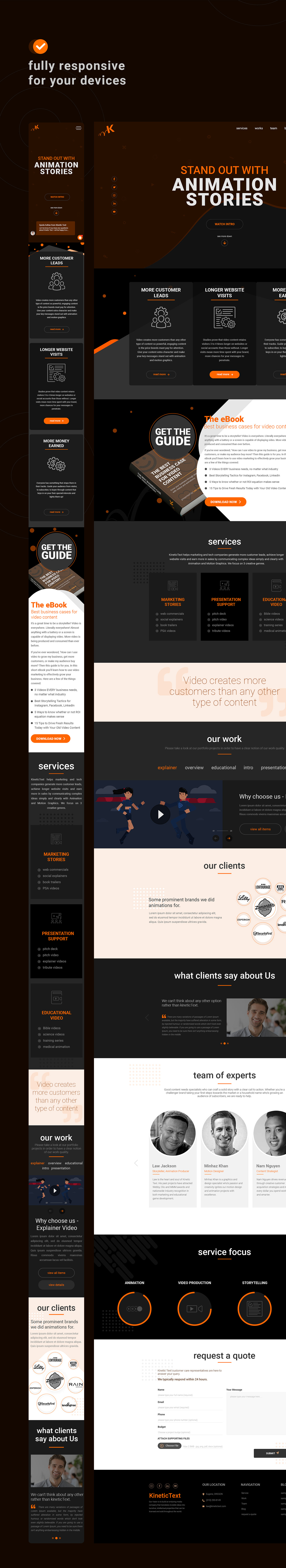 animation company animation studio landing page Web Design  Website Design Website UI/UX Design