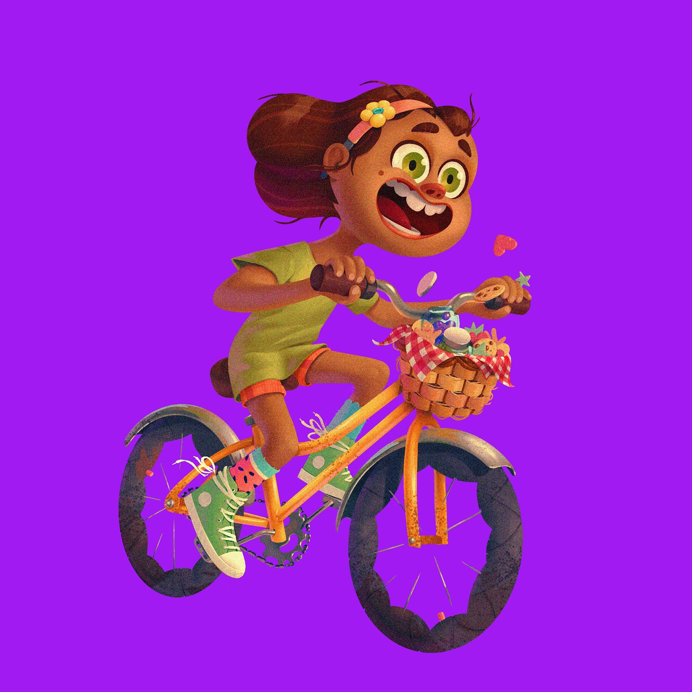 Image may contain: cartoon and bicycle