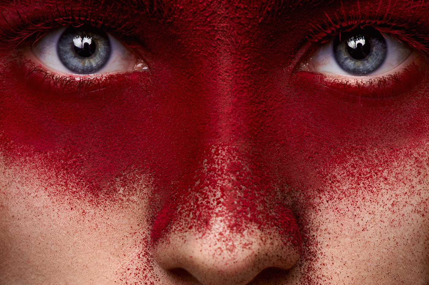 Adobe Portfolio beauty Beautiful makeup MUA red face eyes pink lips Young woman girl female model