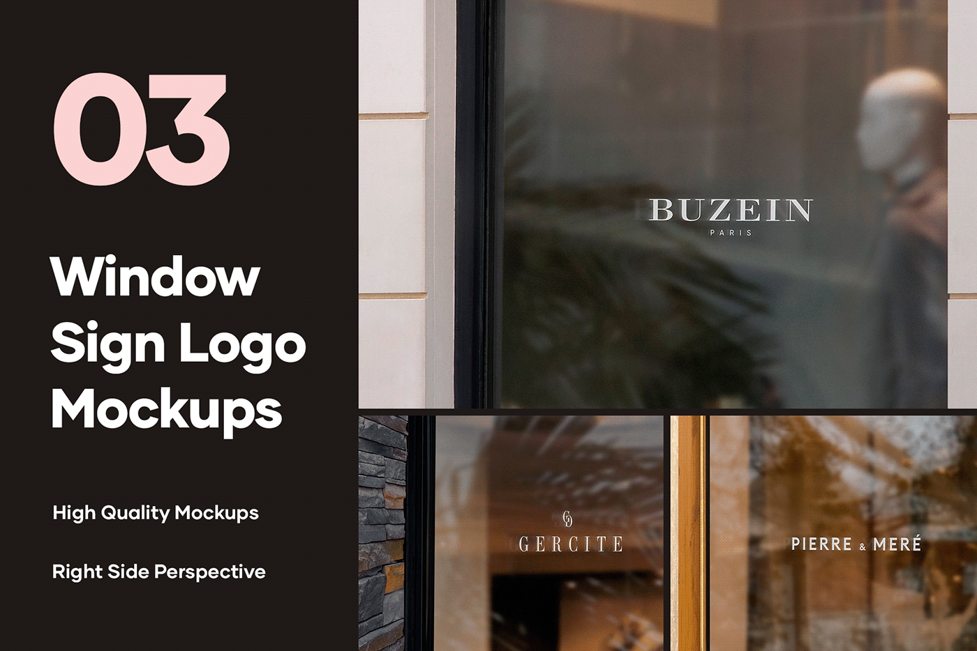 branding  facade free freebie logo Mockup mockups Storefront Window