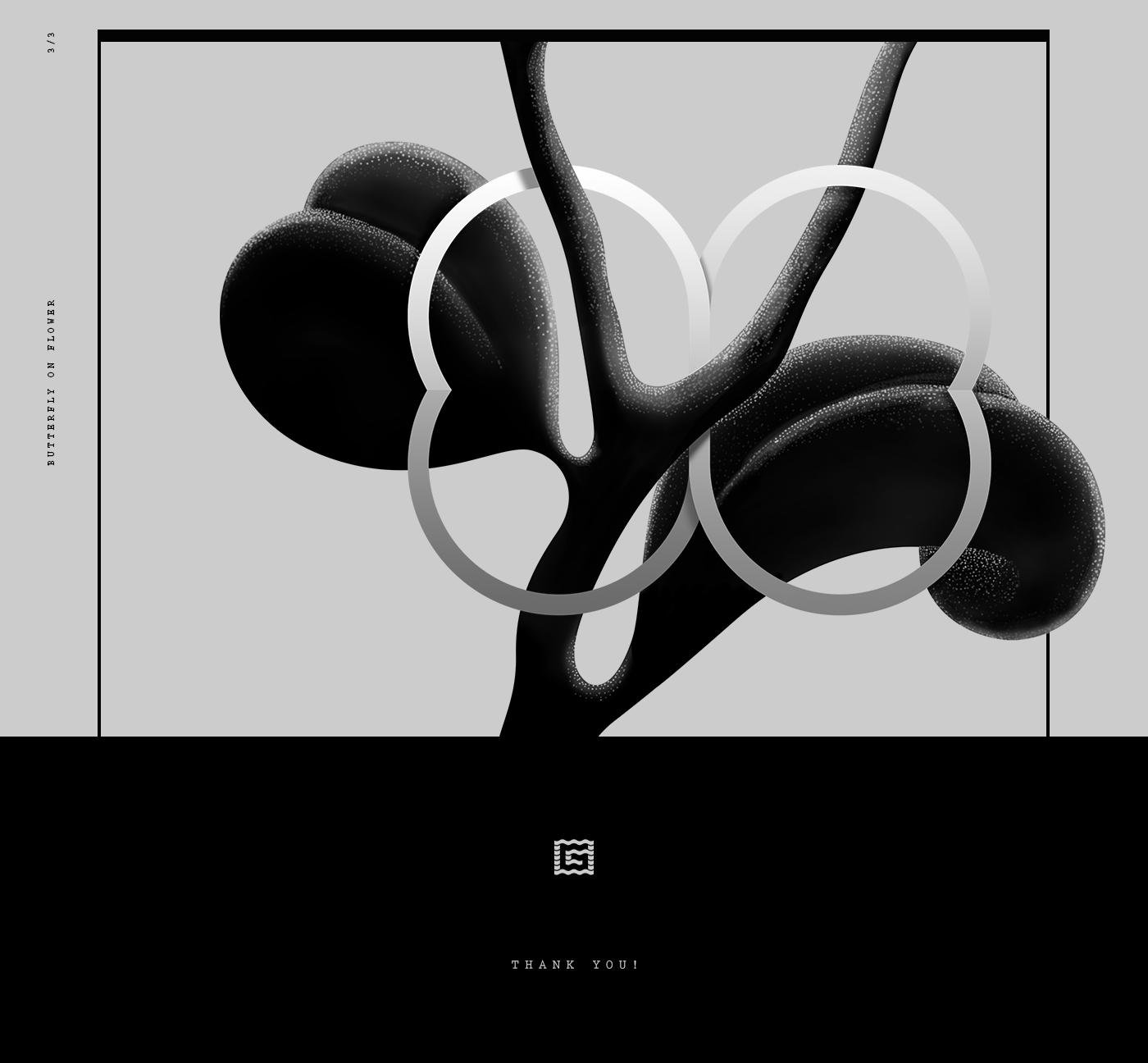 black yellow circle menu Icon dark print background video Responsive interaction logo minimalizm design studio full screen HD