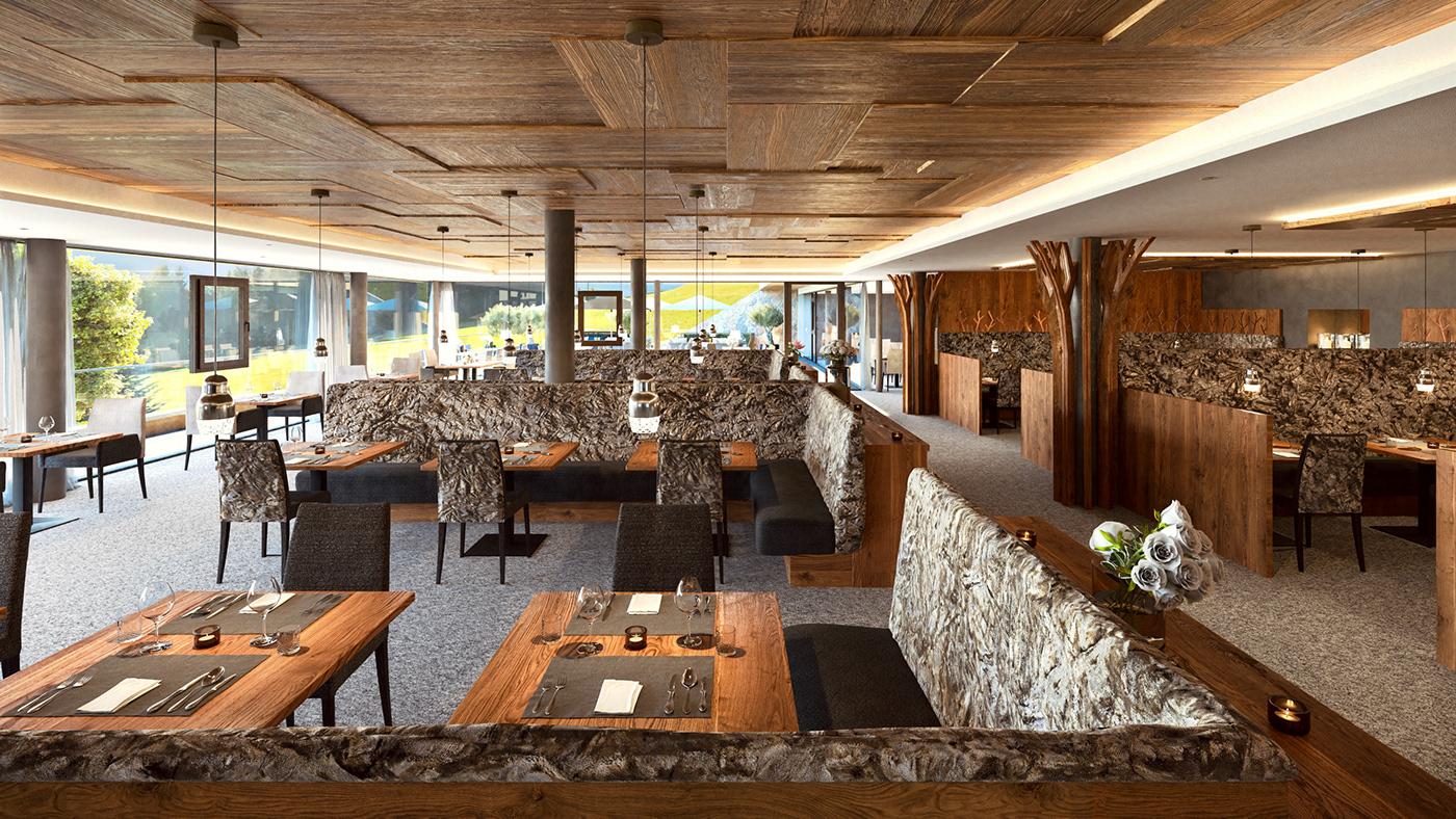 architecural archviz cinema 4d hotel rendering south tyrol visualization