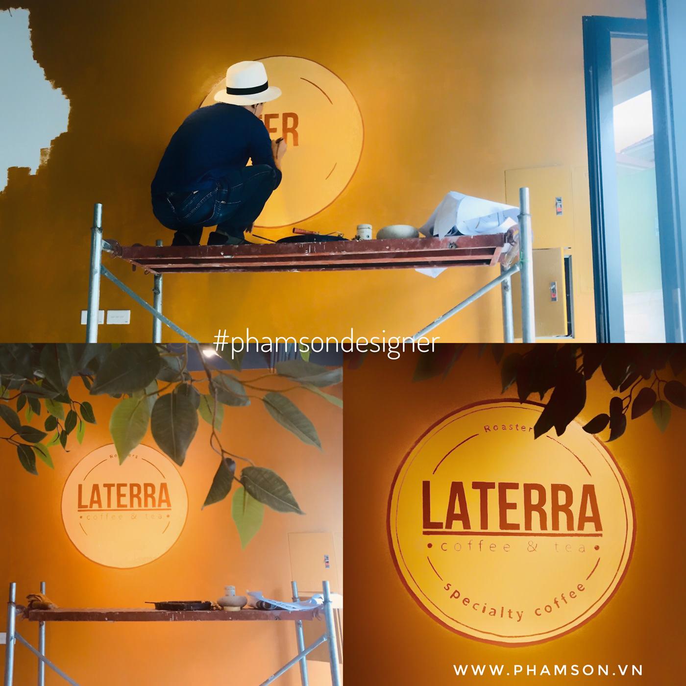 design logo laterra Photography  setup coffee