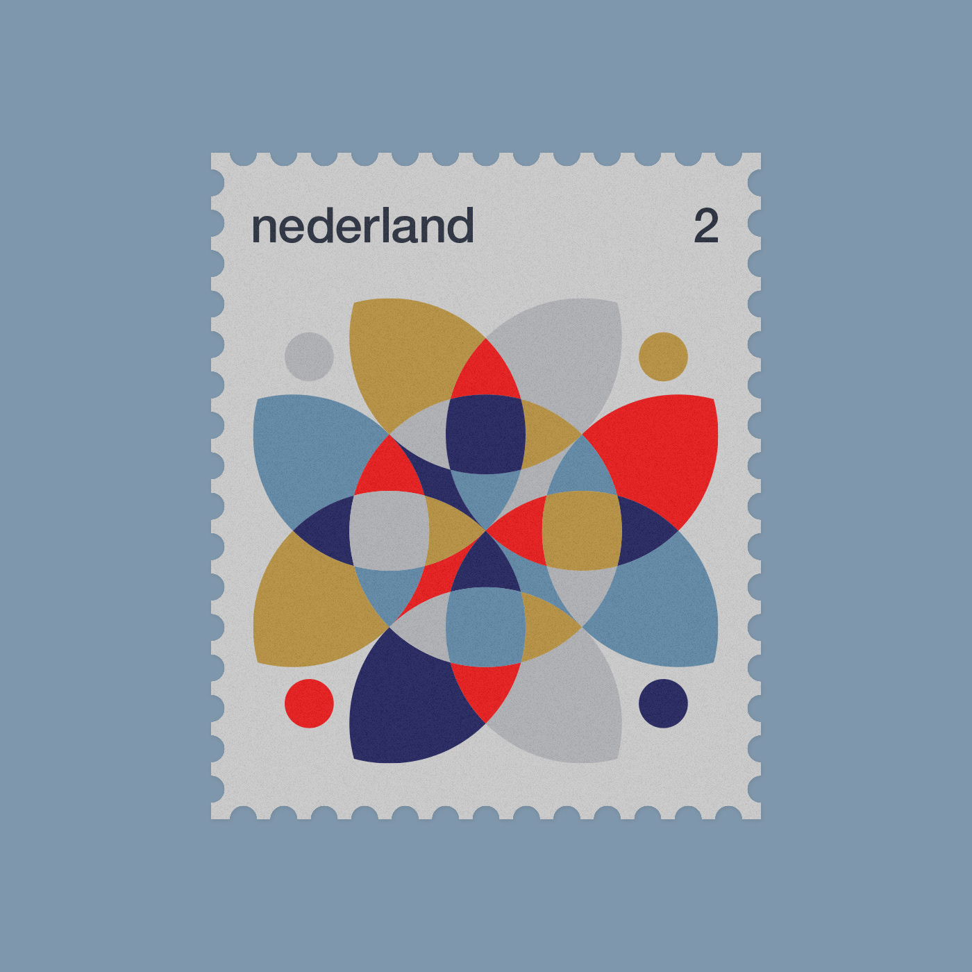 dutch geometric minimal netherland stamp stamps
