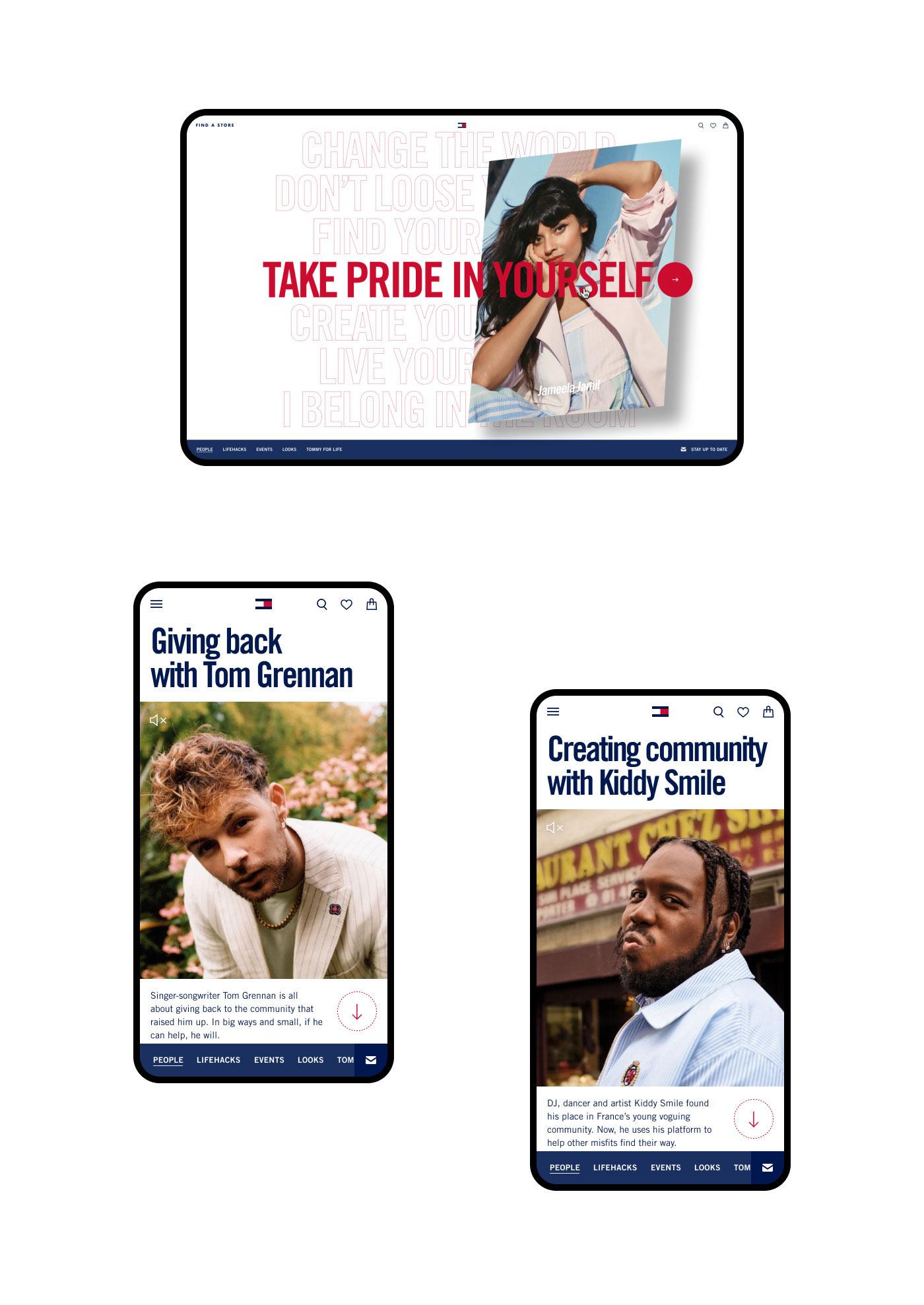 Campaign website designs for desktop and mobile