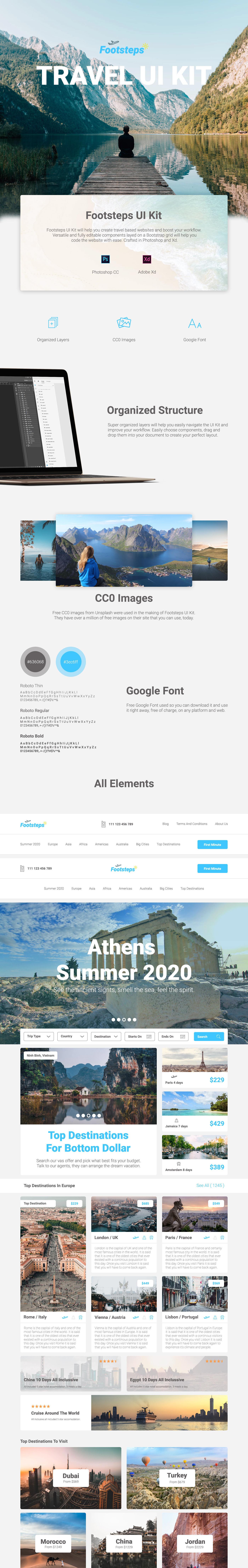 free freebie free ui kit ui kit Web Website Web UI Kit photoshop Made With AdobeXD Web Design