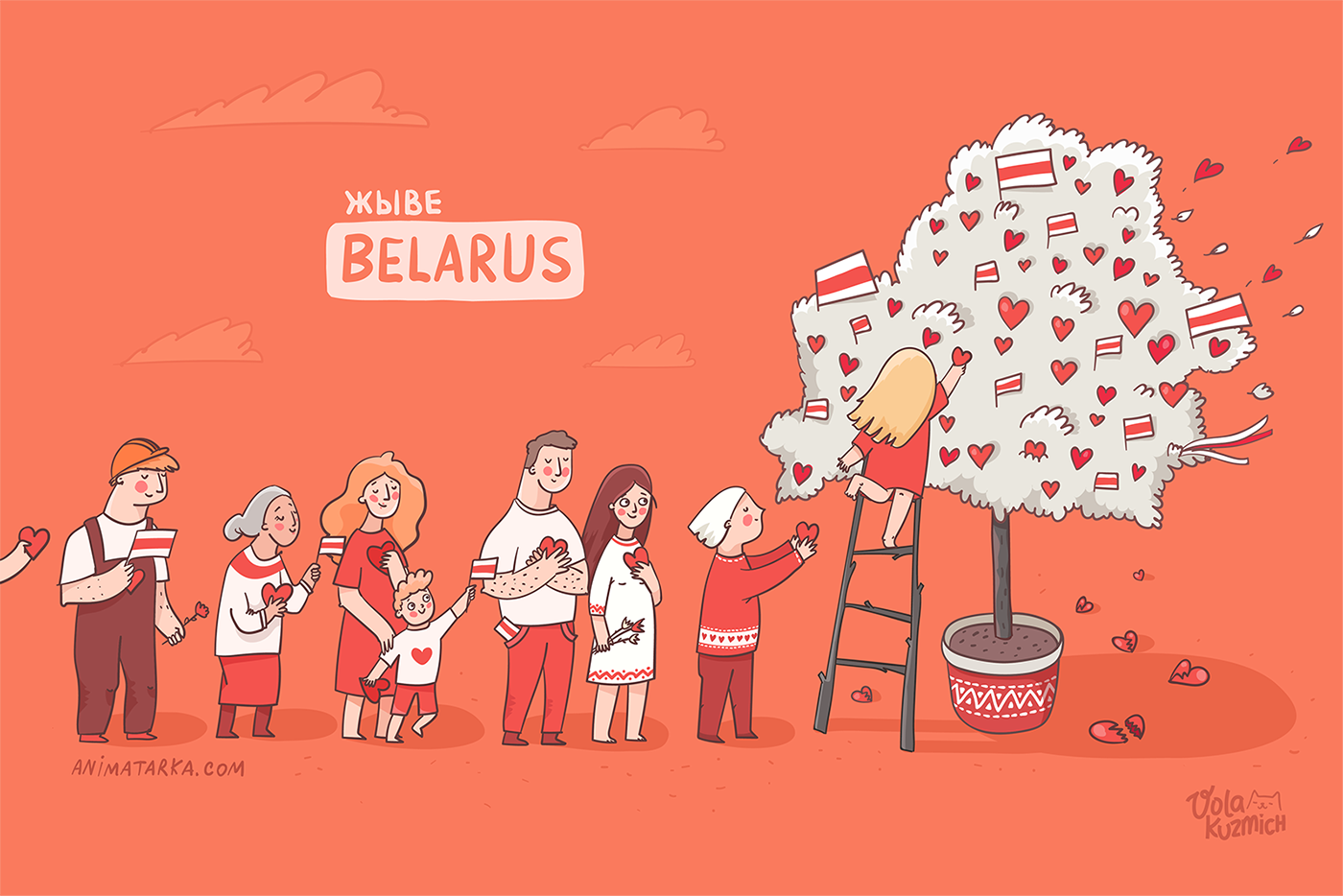 belarus belarus flag families hearts Love people protest red Solidarity support