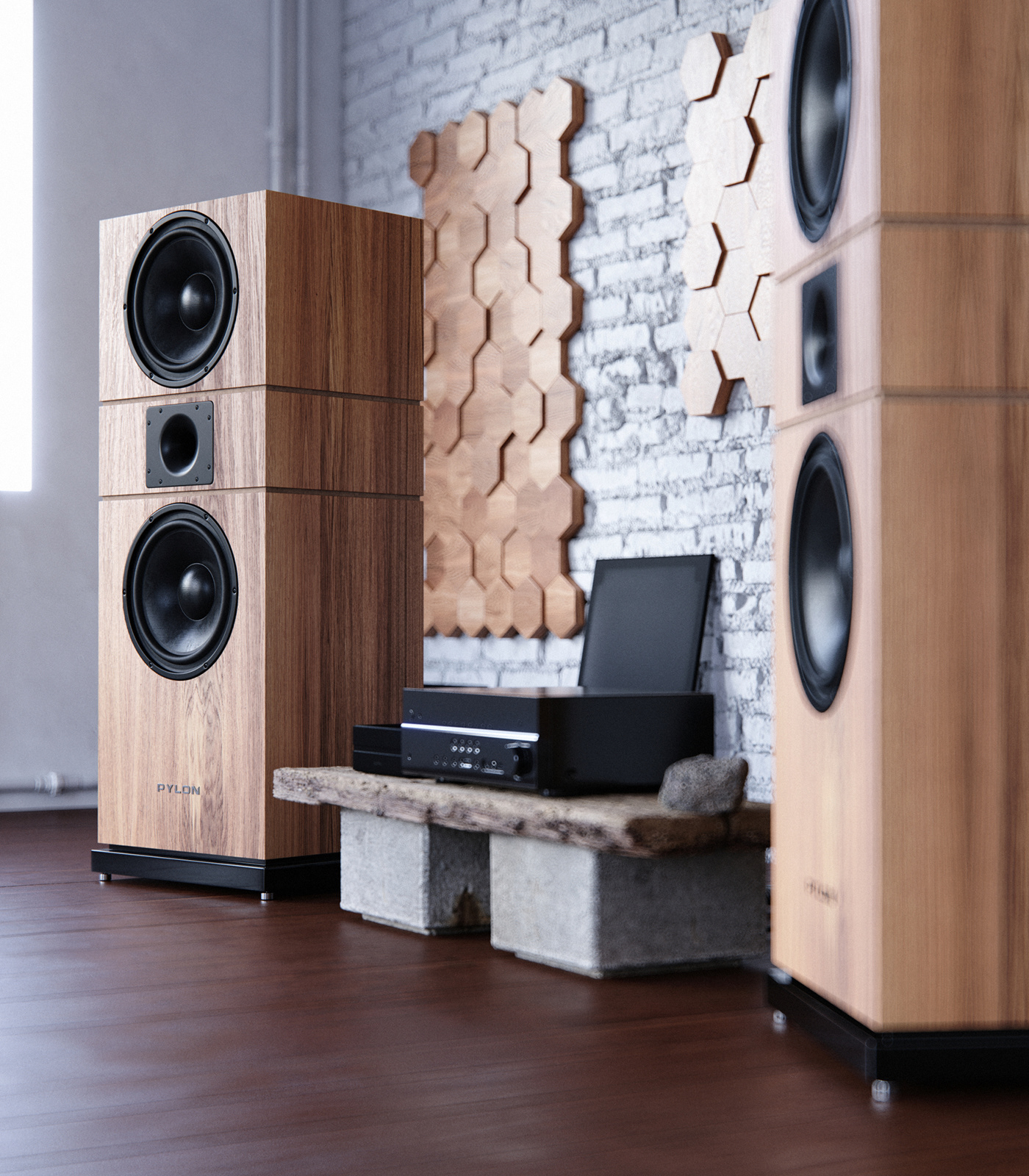 3D 3dsmax Audio audiophile corona hiend loudspeakers product speakers viz
