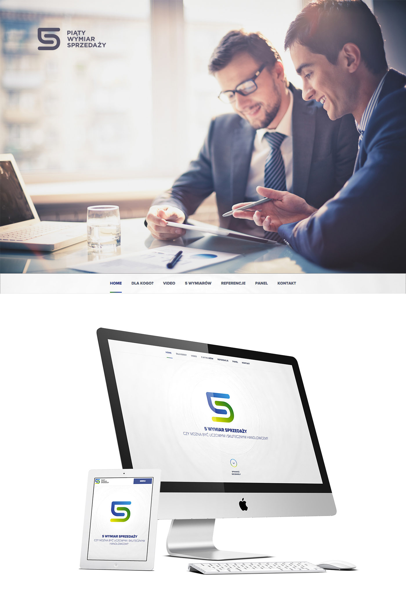 page mark logo corporate company business Layout graphic Responsive rwd marketing   trade sale green blue
