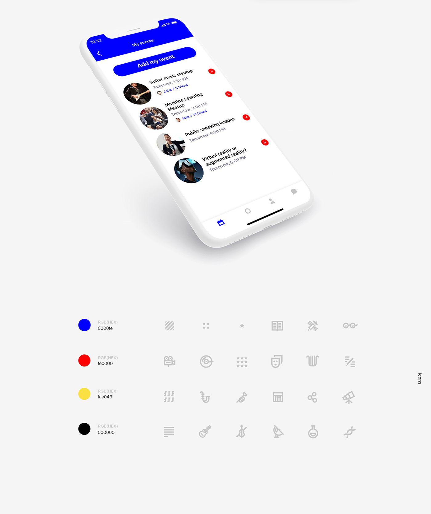 science art app UI