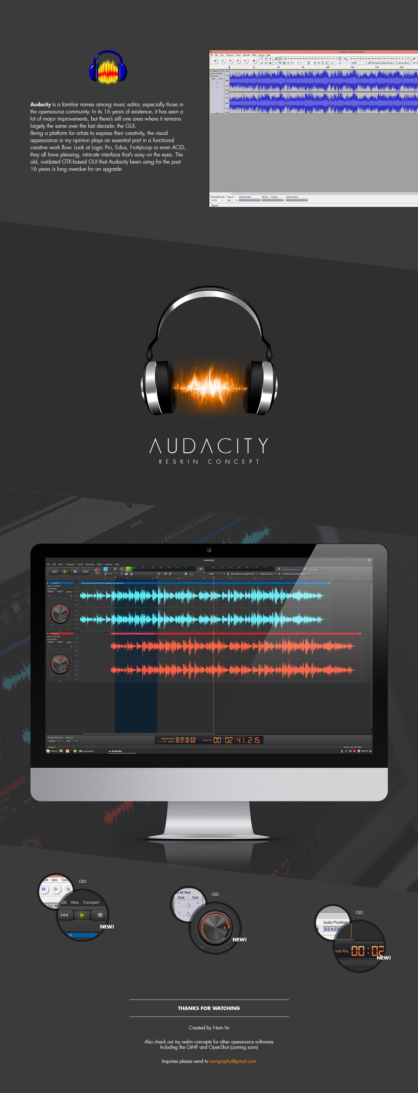 Audacity Interface Redesign