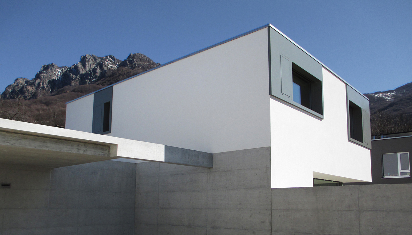 2013 due case moderne minergie lugano villa luganese on for Moderne case costiere