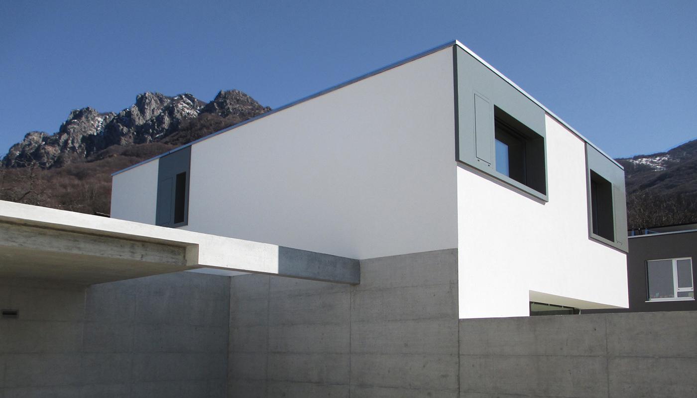 2013 due case moderne minergie lugano villa luganese on for Case moderne poco costose