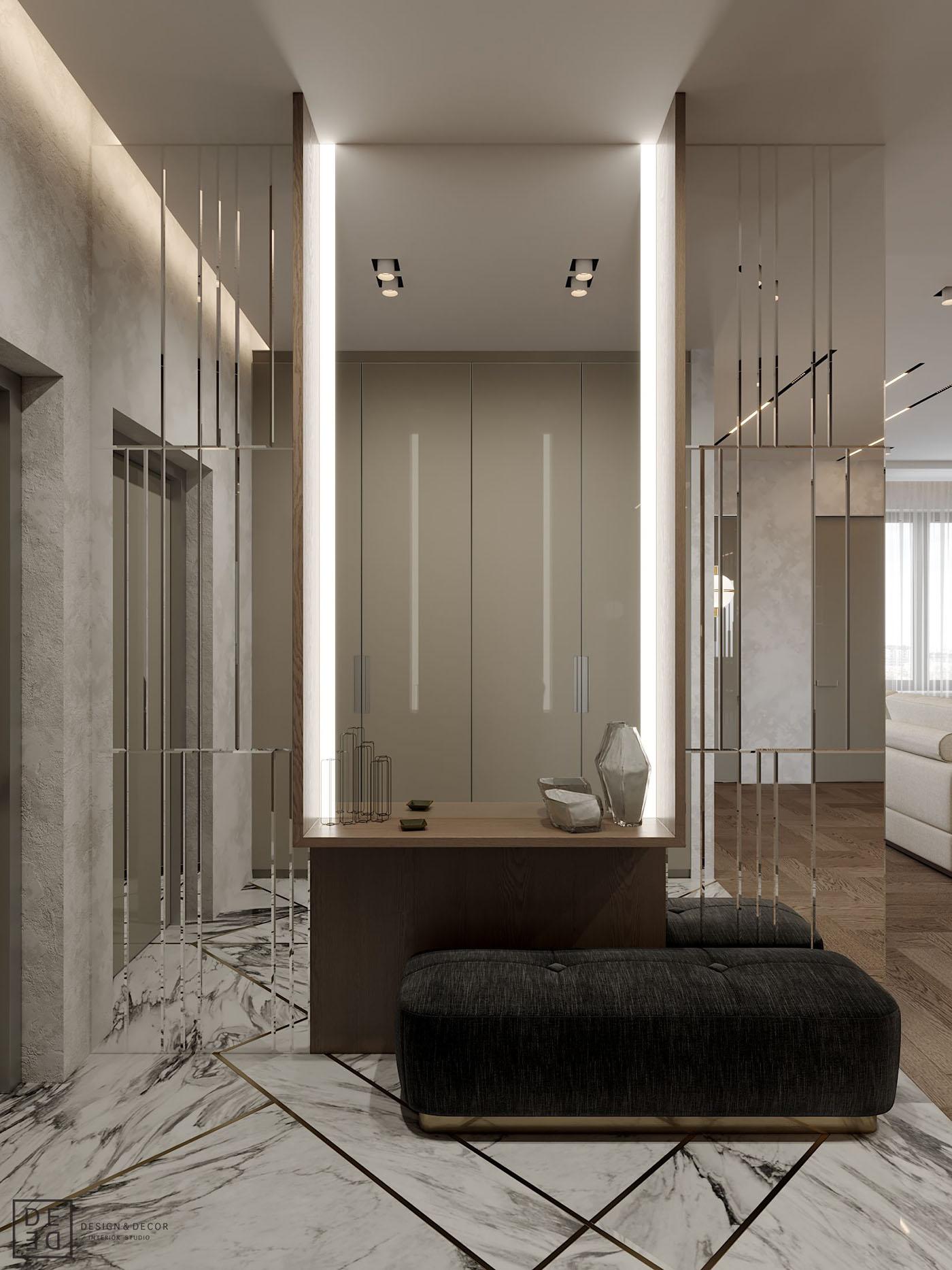 Interior design interiordesign Minimalism modern DE&DE Interior Studio designer corona render  photoshop 3ds max