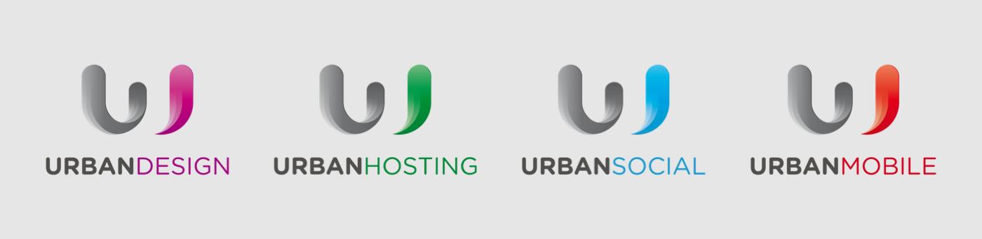 Urban Web design digital agency hosting social mobile brand logo identity people movement light Technology