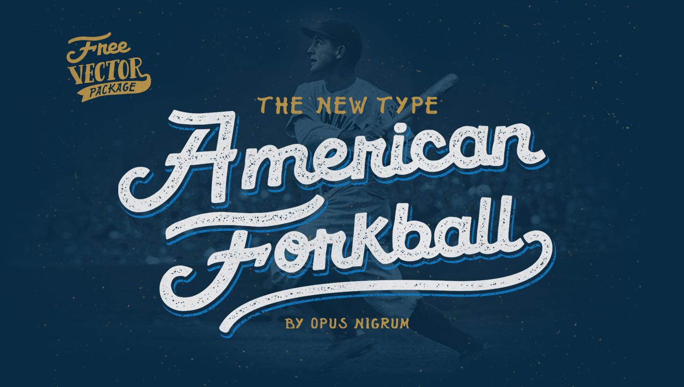 Download American Forkball Font on Behance