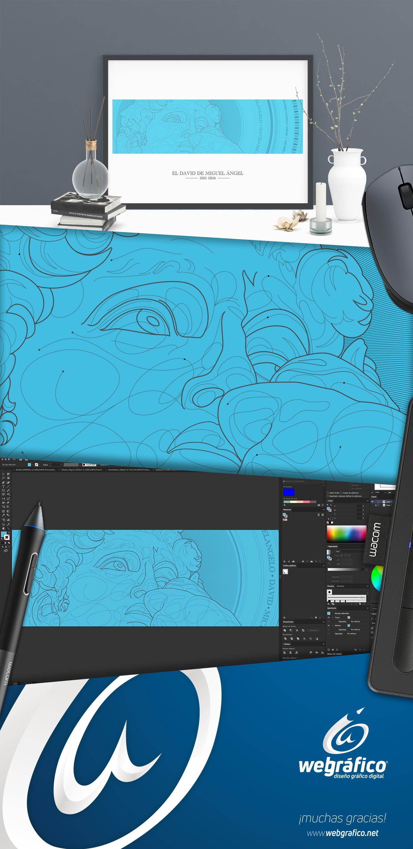 miguel colunga webgrafico aguascalientes mexico david Michelangelo ilustracion vector