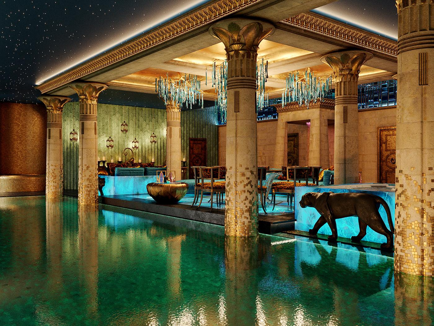sculpture Pool luxury Renders visuals