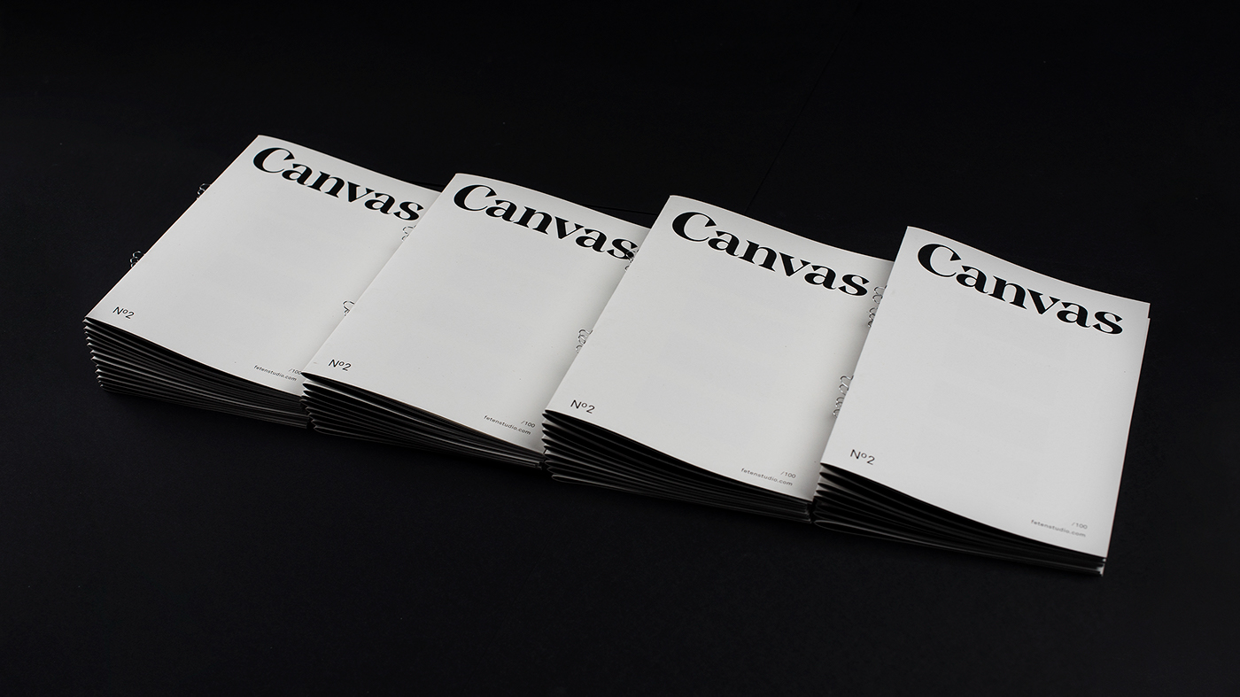 canvas Cuktural magazine editorial Layout art fanzine publication minimal modern