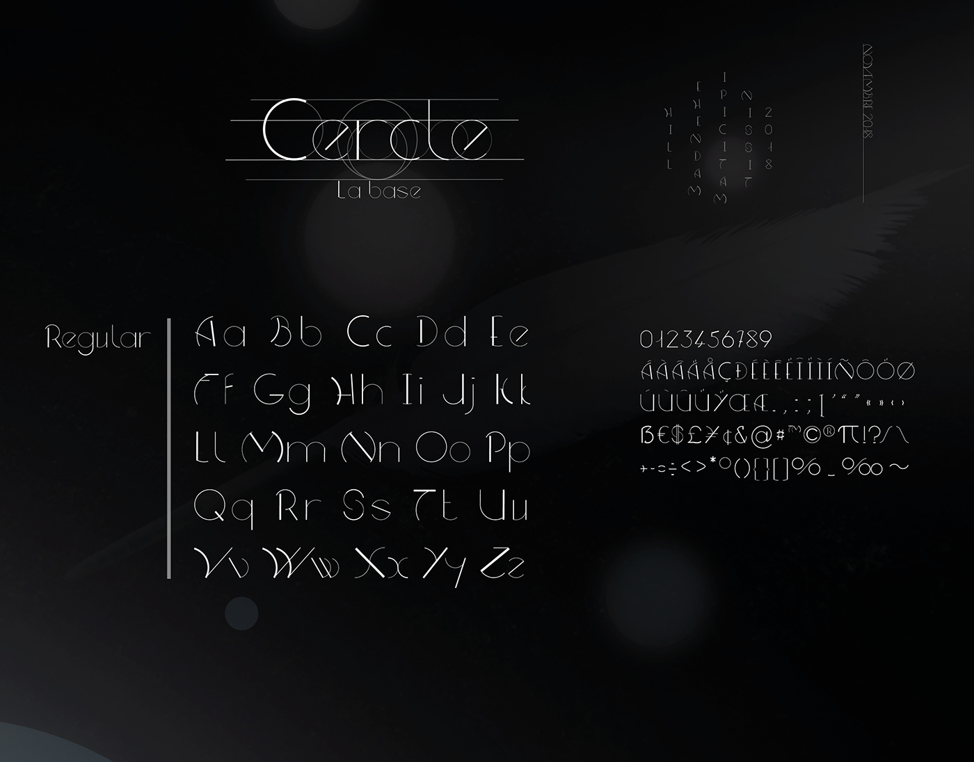 graphisme Typographie evolutive fantaisiste lettrine cercle typo