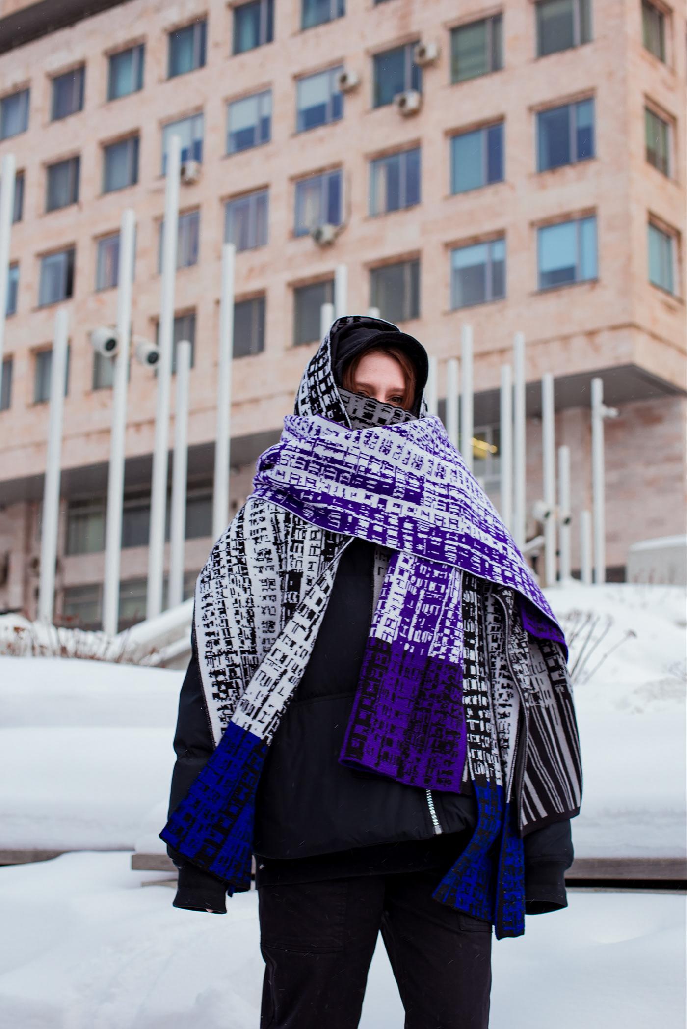 3D Brutalism design generative art knitwear neural art russian