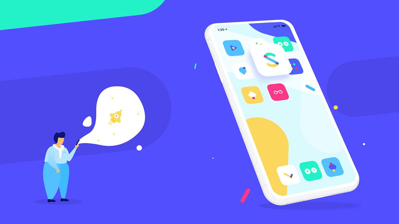 Website Creative Direction  UX / UI motion design mobile parallax interaction graphic design  ILLUSTRATION  app