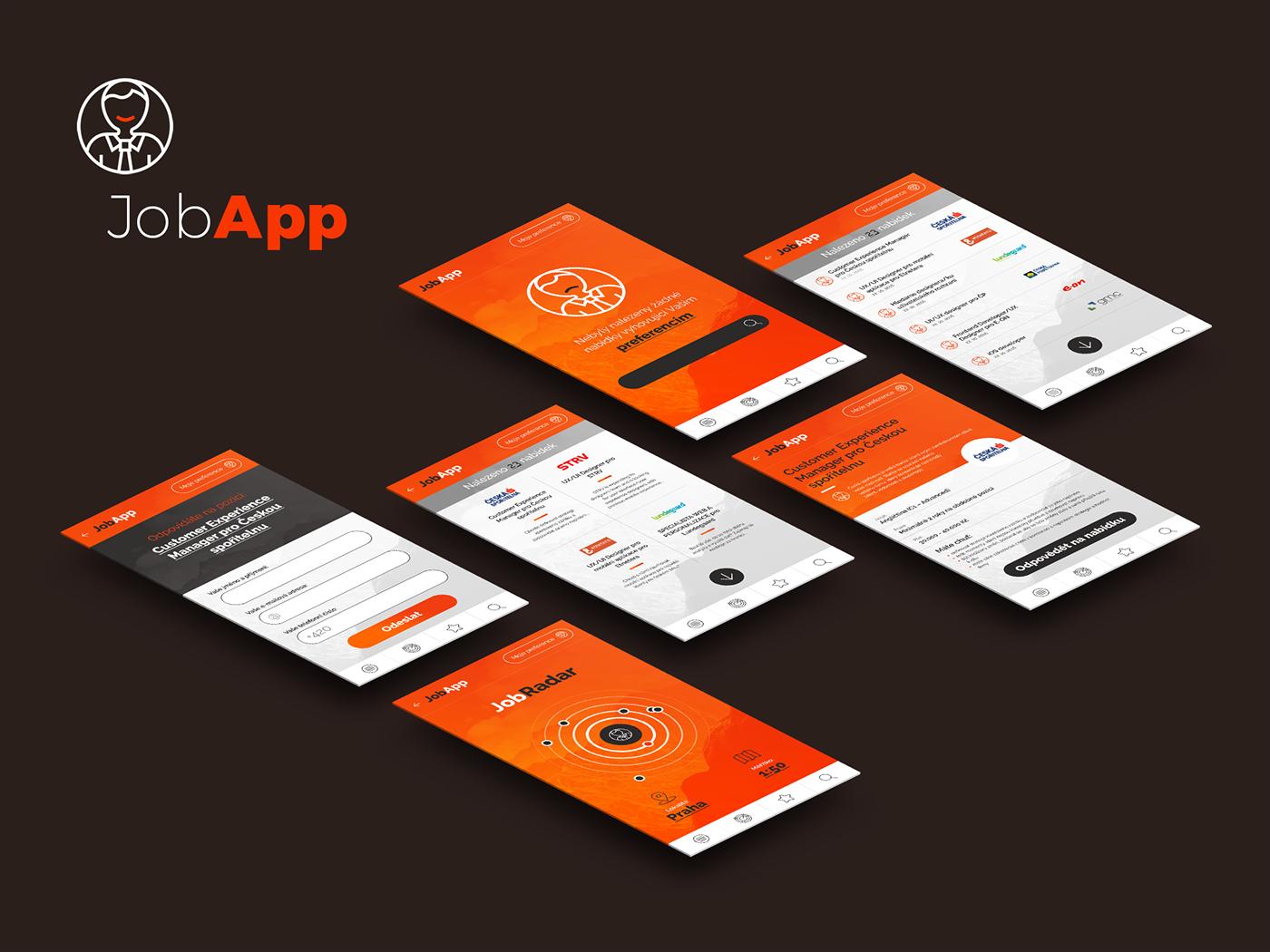 app UI ios android job