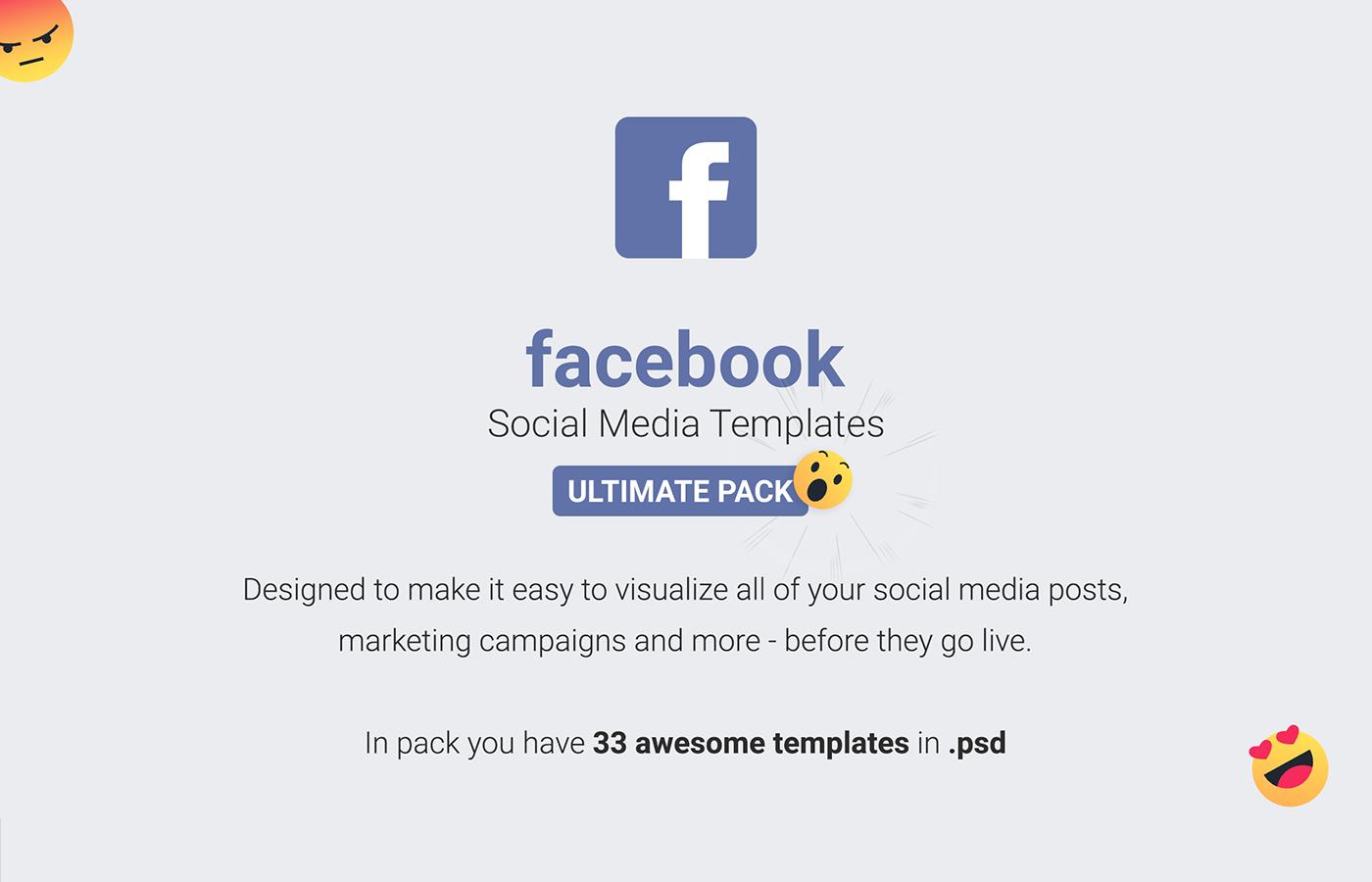 Facebook Mockup social media mockup Facebook Template Facebook Mockup PSD facebook template psd social media template facebook post mockup Social media post facebook facebook ad mockup