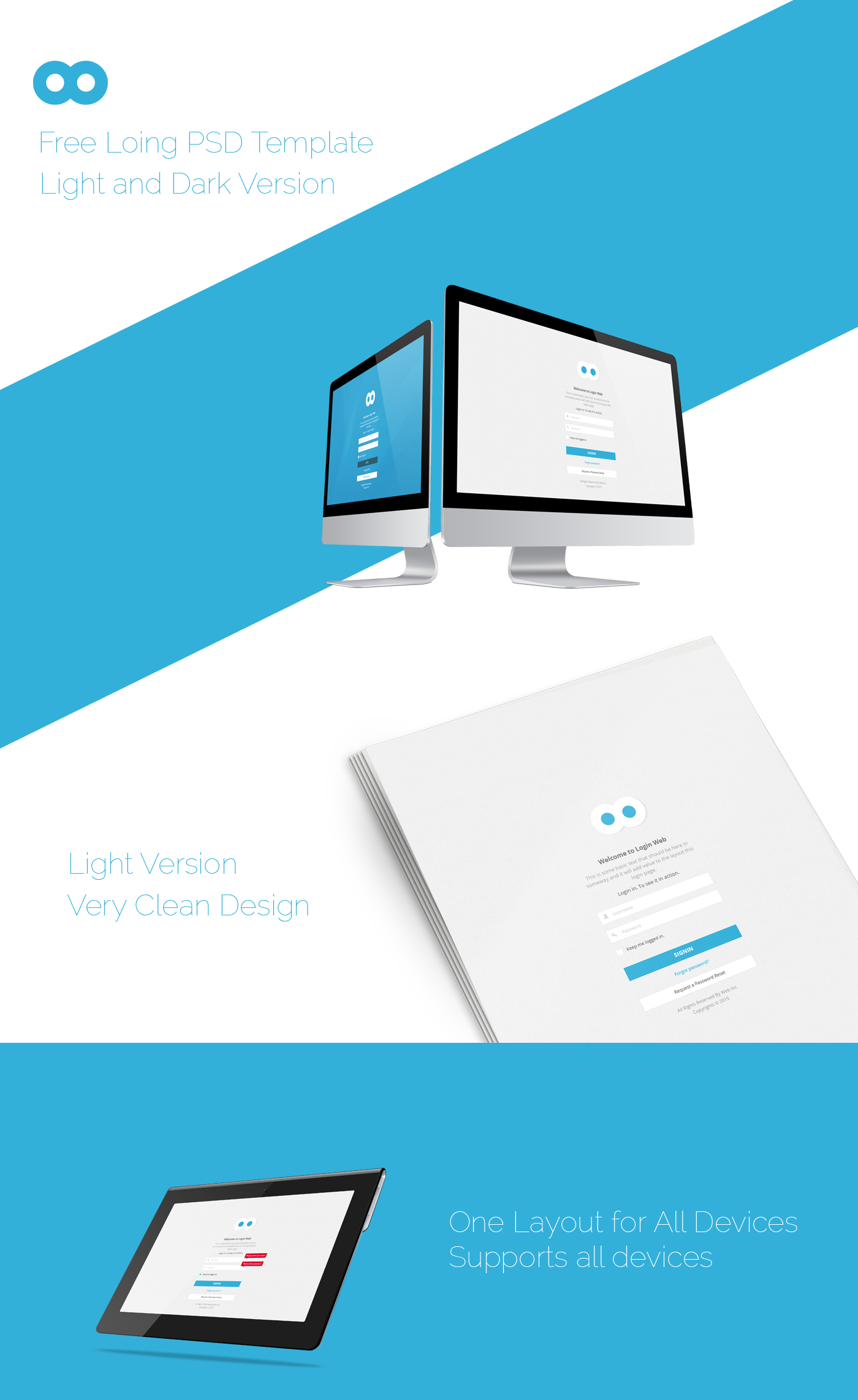 Login Page Psd Template Free On Behance