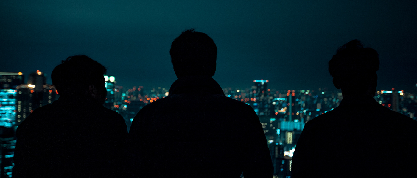 Image may contain: skyscraper and dark