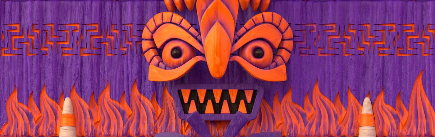 c4d octane Totem Character animation  3D motion graphics  Octane Render