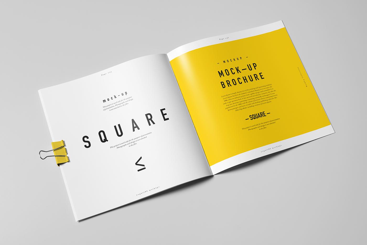 Square Brochure Catalog Booklet Mock Up On Behance